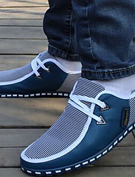 cheap -Men's Light Soles Rubber / Canvas Fall Sneakers Black / Light Blue / White