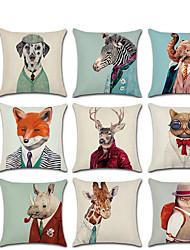 cheap -New Animal Mr. Creative Linen Pillowcase Sofa Cushion Cover Car Accessories Home Decoration
