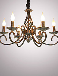 cheap -Industrial Chandelier Painted Finishes Metal 6-Light Shops / Cafes/ Dining Room