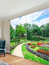 abordables -sentier de parc impression numérique 3d rideau ombrage rideau haute précision noir tissu de soie rideau de haute qualité