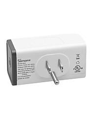 abordables -sonoff s31 nous 15a mini wifi prise intelligente consommation domestique mesure mesurer moniteur utilisation de lénergie application contrôle à distance ifttt avec alexa