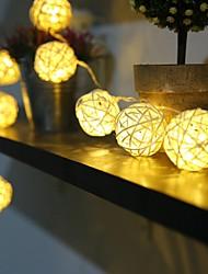 cheap -1.2M 10Bulbs LED String Lamps Sepak Takraw Balls Lights Christmas Outdoor Wedding Home Decoration