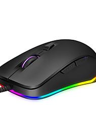 cheap -HXSJ S600 Office Leisure Game Mouse Electronic Competitive USB Cable Optical Mouse / Ergonomic Mouse Multi-colors Backlit  Up To 4800dpi 12 Adjustable DPI Levels 6 pcs Keys 6 Programmable Keys