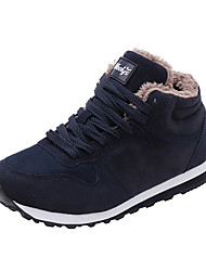 cheap -Women's Athletic Shoes Flat Heel Round Toe Suede Casual Running Shoes Winter Black / Blue