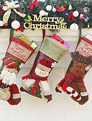 cheap -Snowman Masquerade Family Look Adults' Costume Party Christmas Christmas Fabric Socks / Gift Bag