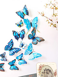 cheap -Animals Double Layer Wall Stickers 3D Wall Stickers Decorative Wall Stickers Light Switch Stickers Fridge Stickers Wedding Stickers PVC Home - Blue