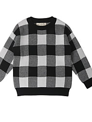 cheap -Toddler Girls' Street chic Plaid Long Sleeve Sweater & Cardigan Black