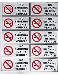 Недорогие -10 шт. Запрещено курить в знак маркировки безопасности автомобиля наклейки виниловые знаки наклейки на автомобили hgv такси стайлинга автомобилей