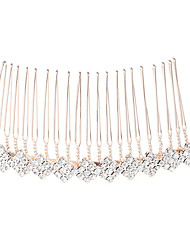 cheap -Alloy Hair Combs / Hair Accessory with Crystal / Rhinestone 1 Piece Wedding Headpiece