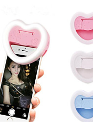 cheap -Rechargeable Fill Light Camera Enhancing Photography Selfie Ring Light Clip Mirror and Phone Holder for ipad smartphone