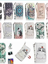cheap -Case For Apple iPhone 11 / iPhone 11 Pro / iPhone 11 Pro Max Wallet / Card Holder / with Stand Full Body Cases Cat PU Leather / TPU for iPhone X / XS / XR / Xs Max / 8 / 8 Plus / 6s / 6s Plus