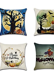 cheap -Cartoon Halloween Night Pumpkin Witch Party Pillow Case Cushion 45 * 45cm Pillow Case Home Decor Accessories