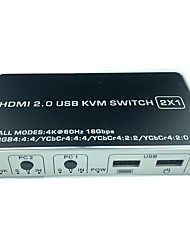 cheap -2019 New 2In 1 Out DP USB 2.0 KVM Switch HDMI KVM Switcher 4K 60Hz