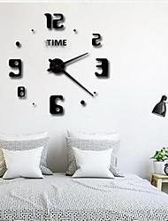 Недорогие -настенные часы, модные поделки из пластика&усилитель; металлическая акриловая нержавеющая сталь круглый крытый / открытый 39.3&Quot; х 39,3&Quot; (100 см х 100 см)