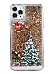 cheap -Case For Apple iPhone XS / iPhone X / iPhone 8 Plus Flowing Liquid / Pattern / Glitter Shine Back Cover Tree / Christmas PC