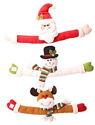 cheap -Beautiful Cartoon Doll Curtain Buckle Santa Claus Snowman Elk Curtain-Shaped Stand Decorative