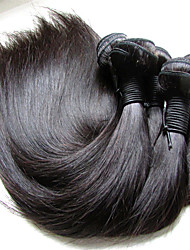 """Недорогие -4 Связки 6 Связок Бразильские волосы Прямой Естественные кудри Не подвергавшиеся окрашиванию Необработанные натуральные волосы Человека ткет Волосы 10""""~28"""" Нейтральный Ткет человеческих волос"""