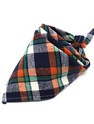 cheap -Dogs Dog Scarf Winter Dog Clothes Orange Yellow Red Costume Baby Small Dog Polyster Plaid / Check Christmas Cosplay Christmas S