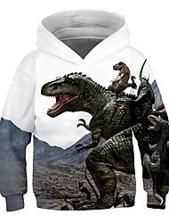 cheap -Kids Toddler Boys' Active Streetwear Color Block Print Long Sleeve Hoodie & Sweatshirt White