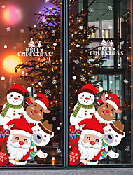 cheap -Window Film & Stickers Decoration Patterned / Christmas Holiday / Character PVC(PolyVinyl Chloride) Window Sticker / Door Sticker / Lovely