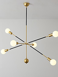 cheap -6-Light 90 cm Chandelier Pendant Lights Metal Sputnik Industrial Painted Finishes Modern Nordic Style 110-120V 220-240V