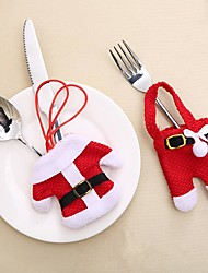 cheap -4set Cutlery Cover Bags Mini Christmas Clothes Shape Knife and Fork Christmas Party Little Cover forXmas Decorations