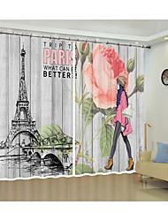 cheap -Fashion Beauty Cartoon Digital Printing Creative 3D Curtain Shade Curtain High Precision Black Silk Fabric High Quality First Class Shade Curtain
