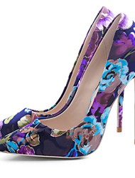 cheap -Women's Heels Stiletto Heel Pointed Toe Polyester Spring &  Fall Purple