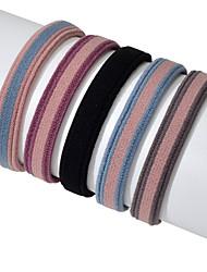 Недорогие -Жен. Резинки для волос Назначение Школа Новый год На выход Пляж Тату с цветами Классический Розовый