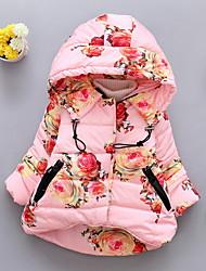 Недорогие -малыш Девочки Классический Цветочный принт На пуховой / хлопковой подкладке Белый