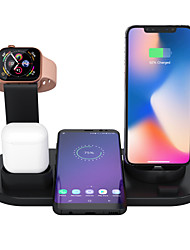 cheap -3 In 1 Wireless Charger Apple Airpods Charger Apple Watch Stand Fast Multiple Device Wireless Charging Station Compatible With Iphone 11 Pro Max/X / Xr / Xs Max / 8/7/6 / Samsung /Huawei