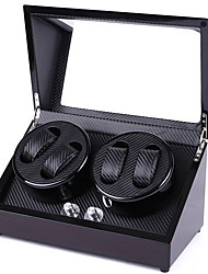 cheap -New Designed Watch Winder for 4 Automatic Watches,,Wood Shell Piano Paint  and Extremely Silent Motor, with Soft Flexible Watch Pillow