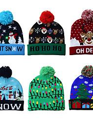 abordables -chapeau de noël tricoté led chaud chapeau de protection belle cool classique romance cadeau de noël atmosphère