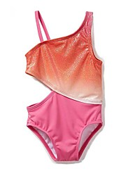 cheap -Kids Toddler Infant Girls' Active Boho Color Block Patchwork Backless Sequins Cut Out Sleeveless Swimwear Fuchsia
