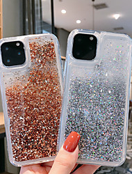 cheap -Case For Apple iPhone 11 / iPhone 11 Pro / iPhone 11 Pro Max Flowing Liquid / Pattern / Glitter Shine Back Cover Transparent TPU