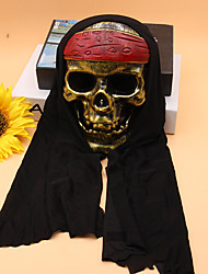 cheap -Holiday Decorations Halloween Decorations Halloween Masks Party / Decorative Black / Dark Yellow / White 1pc