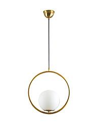 cheap -1-Light 20 cm Creative Pendant Light Metal Glass Circle Electroplated Modern Nordic Style Generic