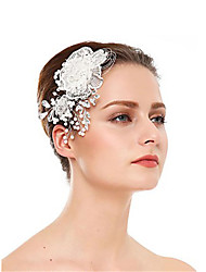 cheap -Crystal / Imitation Pearl Hair Combs with Crystal / Imitation Pearl / Flower 1 Piece Wedding Headpiece