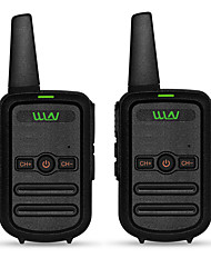 cheap -Two mini Walkie-talkies Ultra-thin Walkie-talkies Available in All Occasions High Frequency Long Range Programmable Frequency