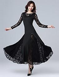 cheap -Ballroom Dance Jazz Dress Lace Women's Training Performance Long Sleeve Dropped Spandex Lace