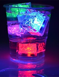 cheap -12Pcs Color Changing Ice Cubes Led Light Party Wedding Christmas Bar Restaurant