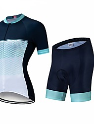 cheap -CAWANFLY Women's Short Sleeve Cycling Jersey with Shorts Black / White Geometic Bike Clothing Suit 3D Pad Quick Dry Winter Sports Spandex Lycra Geometic Mountain Bike MTB Road Bike Cycling Clothing
