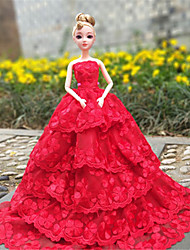 cheap -Doll accessories Doll Clothes Doll Dress Wedding Dress Party / Evening Wedding Ball Gown Lace Tulle Lace Organza For 11.5 Inch Doll Handmade Toy for Girl's Birthday Gifts  Doll Not Included / Kids