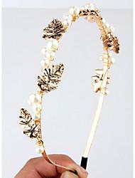 cheap -Alloy Headbands with Pearl 1 Piece Wedding Headpiece