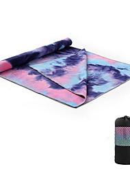 Недорогие -Полотенце для йоги Антипробуксовочная Легкость Очень мягкий Волокно для Йога Пилатес Аэробика и фитнес 183*63*0.3 cm Зеленый Синий Цвет фуксии