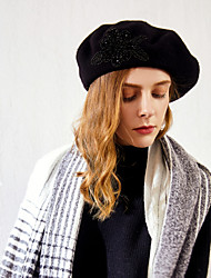 cheap -100% Wool Hats with Pattern 1pc Casual / Daily Wear Headpiece