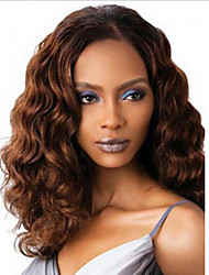 cheap -Synthetic Wig Straight Middle Part Wig Long Medium Auburn Synthetic Hair 16 inch Women's Women Black