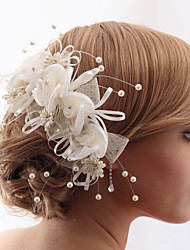 cheap -Imitation Pearl / Rhinestone / Fabrics Flowers with Floral 1 Piece Wedding Headpiece