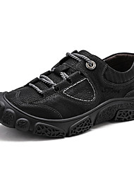 cheap -Men's Comfort Shoes Nappa Leather Fall / Fall & Winter Sporty / Casual Athletic Shoes Hiking Shoes / Walking Shoes Breathable Black / Gray / Khaki