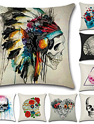 cheap -Halloween Skull Pillow Case Dakimakura Cushion Cover Dust-proof Comfort Pillow Case Pillow Case 45 * 45